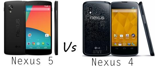 Nexus 5 vs Nexus 4 Comparison