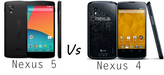 Nexus 5 vs Nexus 4 Comparison