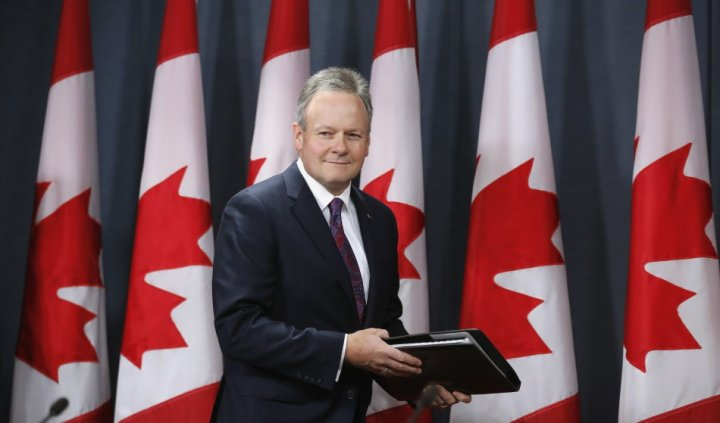 Bank of Canada Governor Poloz arrives at a news conference upon the release of the Monetary Policy Report in Ottawa