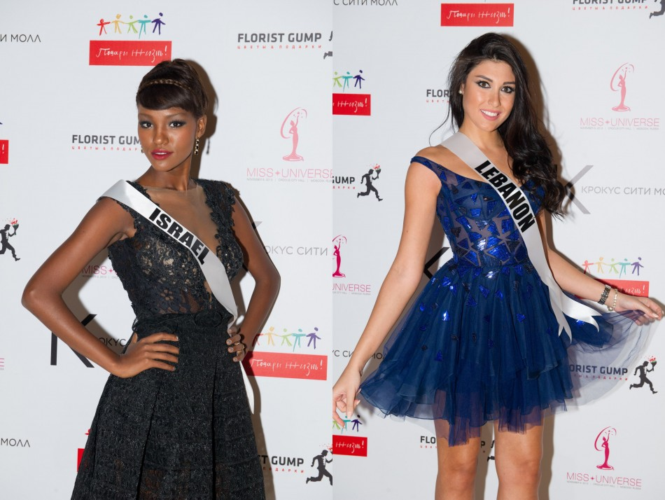 Dark hues silhouette out the contestants' toned figure. (Photo: MIss Universe Organization L.P., LLLP)