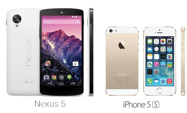 Google Nexus 5 vs Apple iPhone 5s