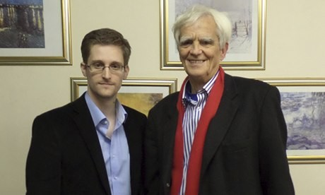 Edward Snowden meets German politician Hans-Christian Strobele