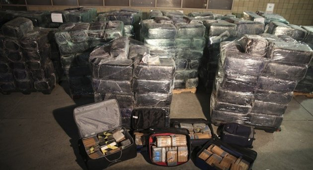 Eight tonnes of marijuana and 325lb of cocaine were also seized (Reuters)