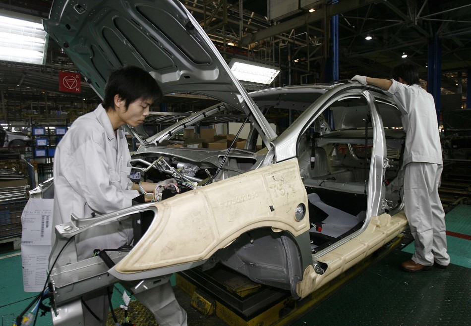 A car factory line in Wuhan