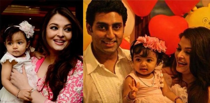 Aishwarya Rai and Abhishek Bachchan with their daughter Aradhya. (Photo: AshOfficial/Facebook)