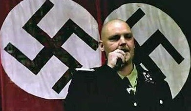 Jeff Hall was regional leader of the neo-Nazi group the National Socialist Movement (CBS/minutes)
