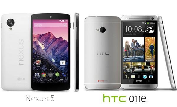 Google Nexus 5 vs HTC One -Best Android smartphone
