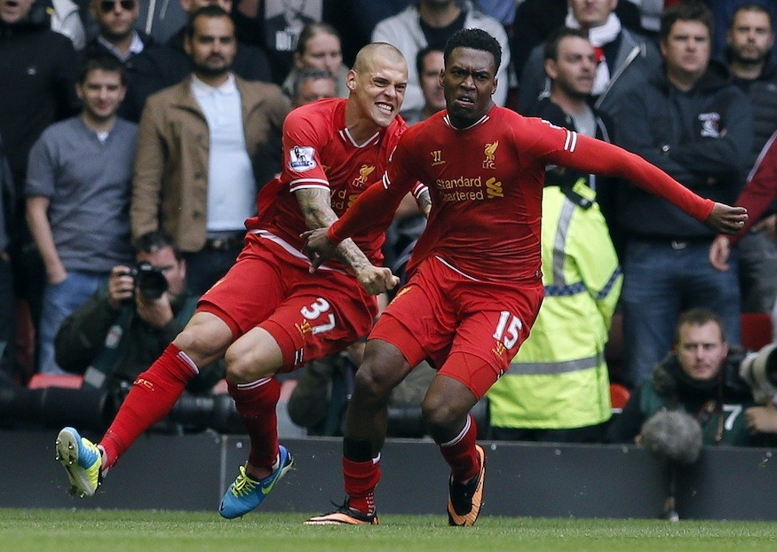 Martin Skrtel and Daniel Sturridge