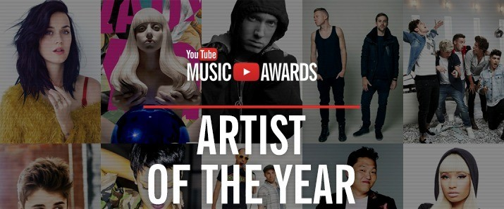 YouTube Music Awards will take place on 3rd November, 2013