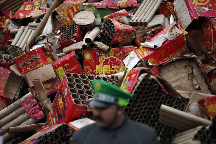 Most of the victims were female workers who were assembling fuses for firecrackers. Picture: (Reuters)