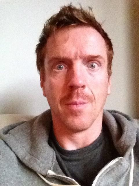 Damian Lewis grows his moustache for Movember