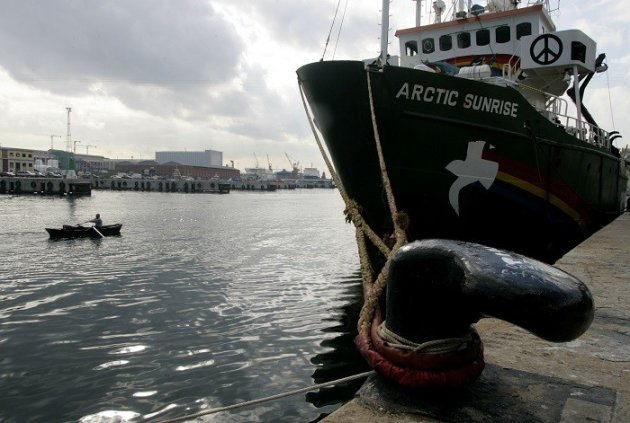 Activists aboard the Arctic Sunrise were arrested by Russian authorities in September