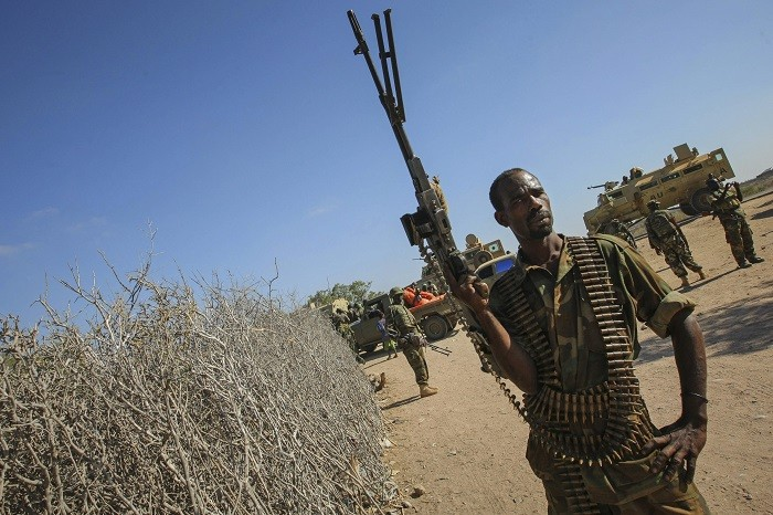 Somali soldiers took part in a joint military strike against an al-Shabaab base with the Kenyan military.