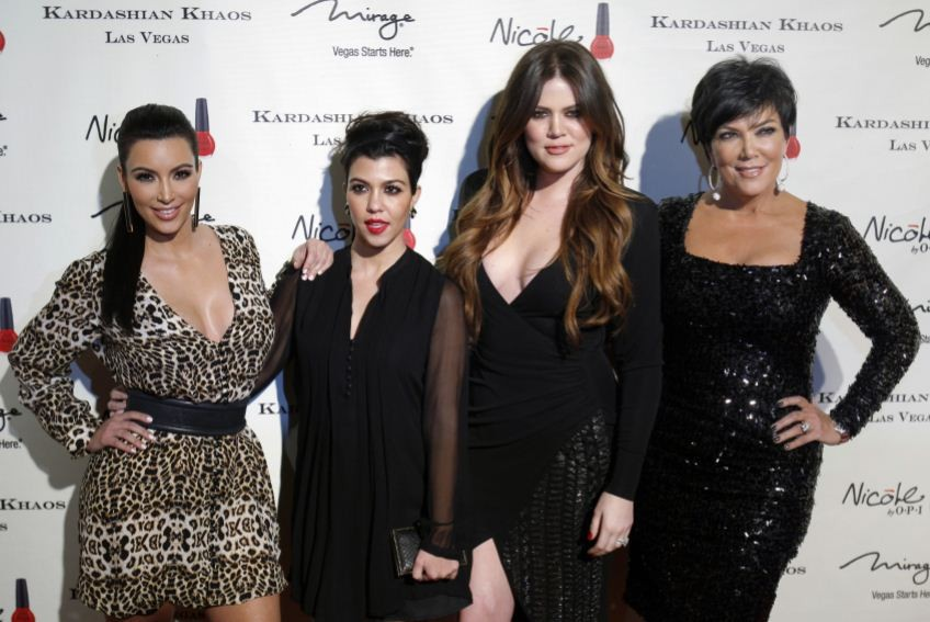 The Kardashian sisters with their mother Kris Jenner