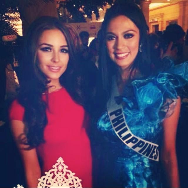 Miss Universe 2013: Olivia Culpo Posts Picture with Miss Philippines Ariella Arida(Instagram)