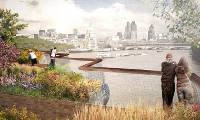 The Garden Bridge could be opened by 2017. Picture: Dan Pearson Studio
