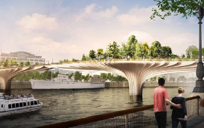 The Garden Bridge could be open by 2017