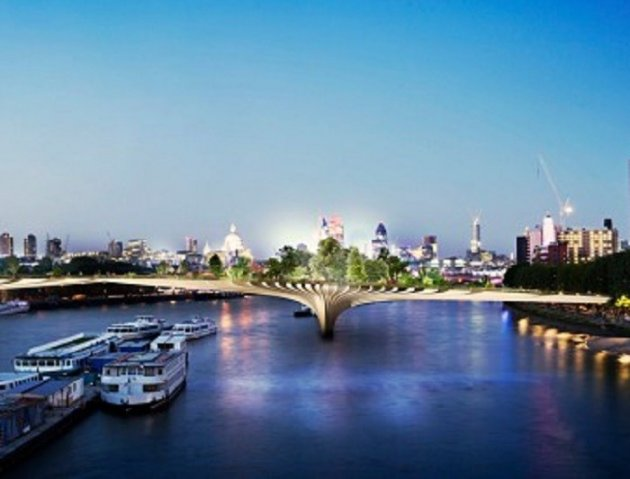 The Garden Bridge could be opened by 2018. Picture: Dan Pearson Studio