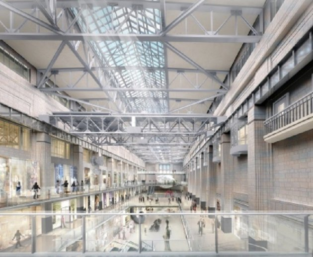 Plans for the interiors of the former turbine hall.
