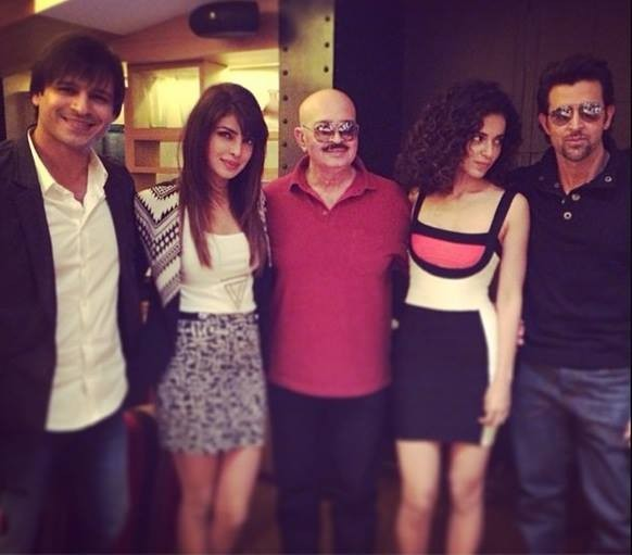 Cast of Krrish 3 along with director Rakesh Roshan