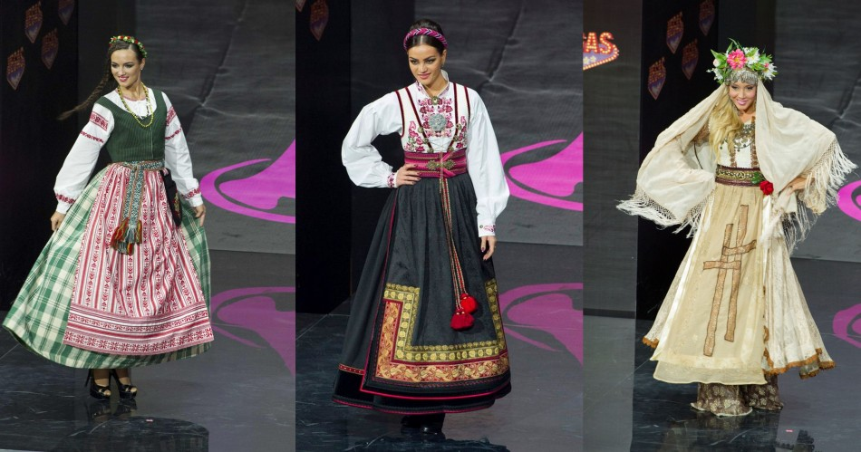 Miss Universe 2013 contestants (L to R): Simona Burbaite of Lithuania, Mari Ekelof of Norway and Veneta Krasteva of Bulgaria. (Photo: Reuters)