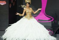 Brenda Gonzalez, Miss Universe Argentina 2013, models in the National Costume contest at Vegas Mall on November 3, 2013. (Photo: MIss Universe Organization L.P., LLLP)