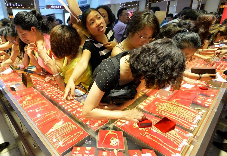 China expected to consumer 1,000 tonnes of gold in 2013