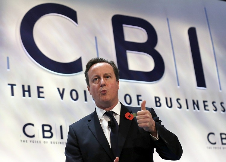 UK Prime Minister Cameron tells CBI conference that public support over Britain's European Union membership is waning (Photo: Reuters)
