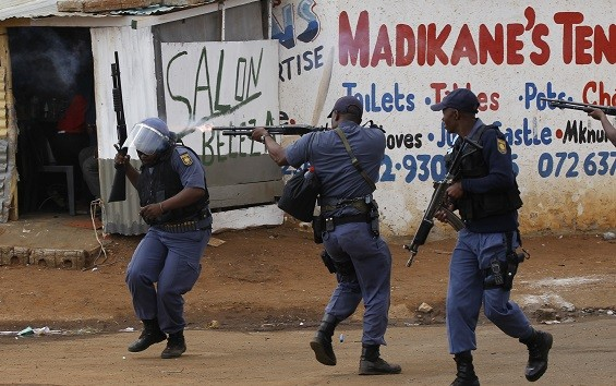 Vigilante attacks and protests are common in South African townships (Reuters)
