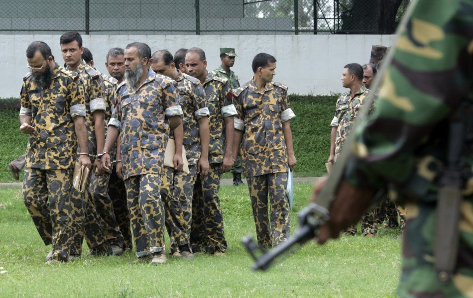 Bangladesh soldiers death sentences
