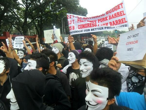 Anonymous Million Mask March in Philippines