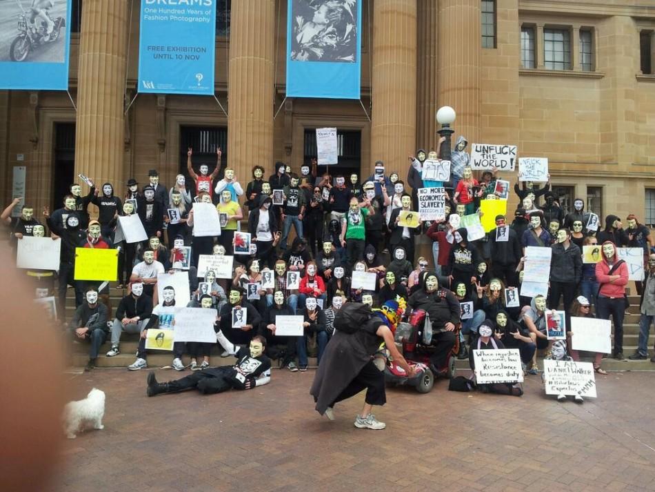 Anonymous Million Mask March - Sydney