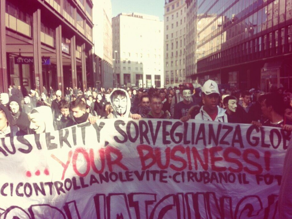 Anonymous Million Mask March - Milan