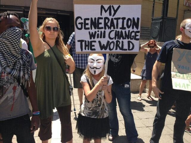 Anonymous Million Mask March - South Africa