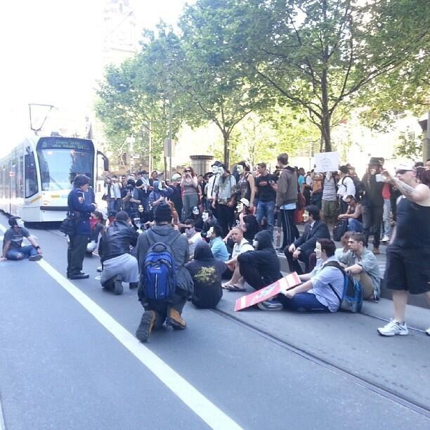 Anonymous Million Mask March - Melbourne
