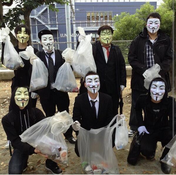 Anonymous Million Member March - Japan