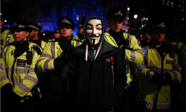 Anonymous Million Mask March London