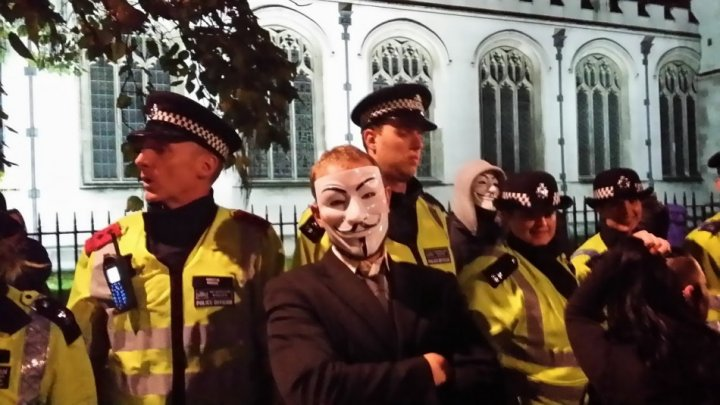 Anonymous Million Mask March in London