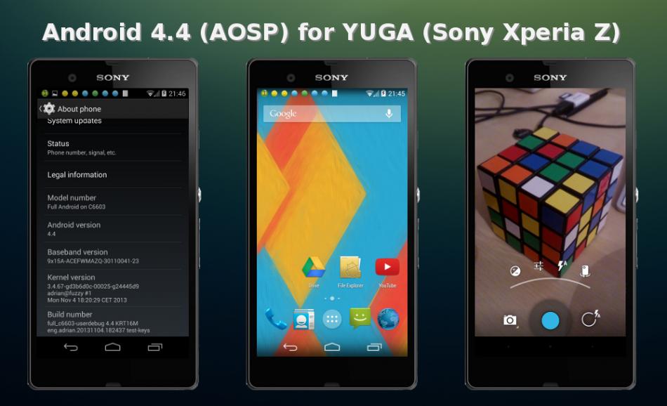 Sony Xperia Z Gets Android 4.4 KitKat via AOSP ROM [How to Install]