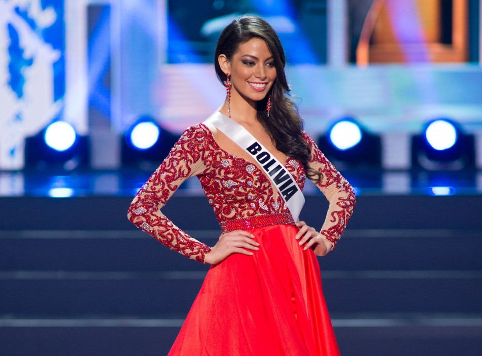 Alexia Viruez, Miss Universe Bolivia 2013, competes in her evening gown during the Preliminary Competition at Crocus City Hall on November 5, 2013.