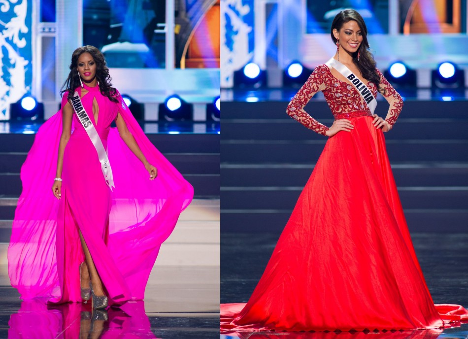 Lexi Wilson of Bahamas (L) and Alexia Viruez of Bolivia (Photo: Miss Universe L.P., LLLP)