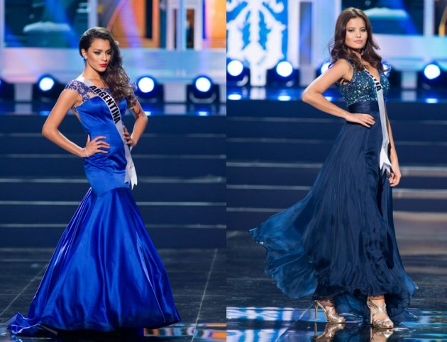 Brenda Gonzalez of Argentina (L) and Melita Fabečic of Croatia (Photo: Miss Universe L.P., LLLP)