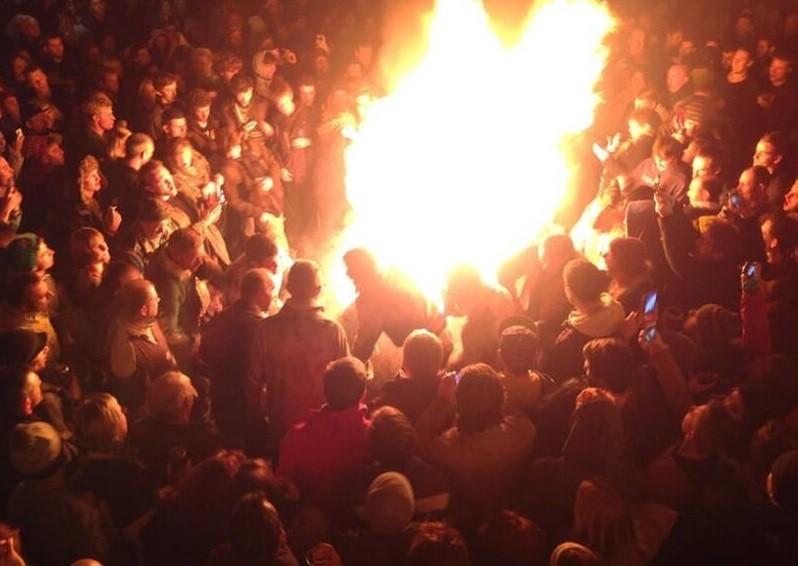 Flaming barrel