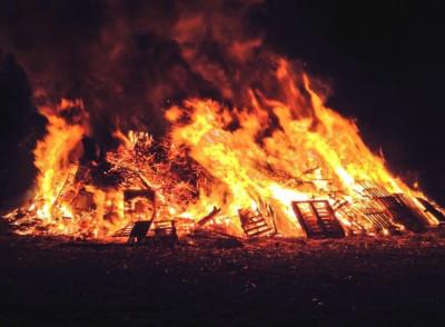 Flaming barrels