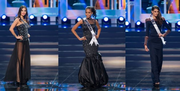 Three contestants opted for black evening gowns. (Photo: Miss Universe L.P., LLLP)