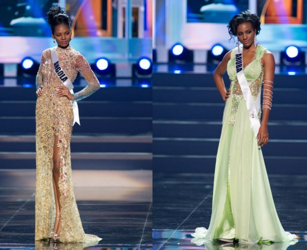 These ladies sport embellished gowns. (Photo: Miss Universe L.P., LLLP)