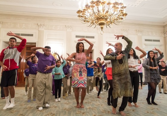 Michelle Obama dances for Bollywood tunes during Diwali celebrations -