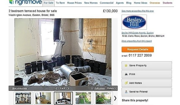 The photograph has since been taken down from the website (rightmove)