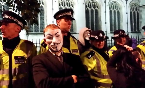 Arrests London Million Mask March