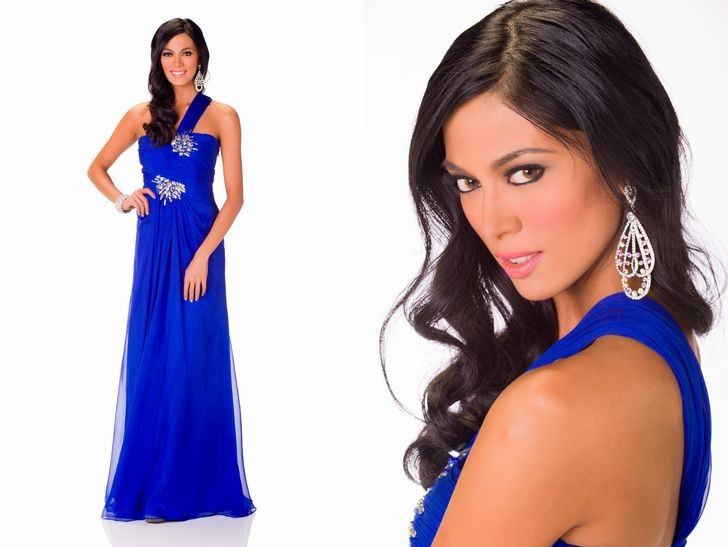 Ariella Arida wears a royal blue gown in an official portrait.